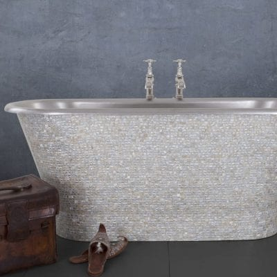 Torino Stainless Steel Bath With Mother Of Pearl Exterior 4