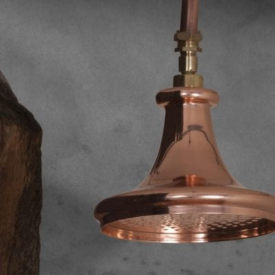 Copper Trumpet Shower Head 1