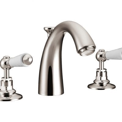 Classical Spout Basin Mixer Taps Nickel 3