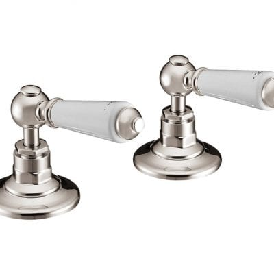 Deck Mounted Bath Valves Lever Nickel 6