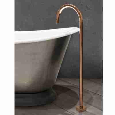 Floor Mounted Bath Spout Copper 8
