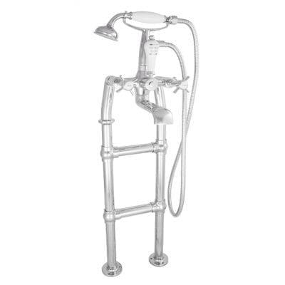 Freestanding Bath Mixer Taps With Small Tap Stand Chrome 3