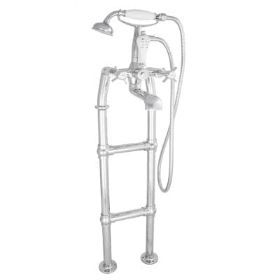 Freestanding Bath Mixer Taps With Large Tap Stand Chrome 3