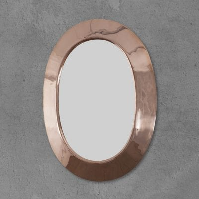 Oval Copper Mirror 13