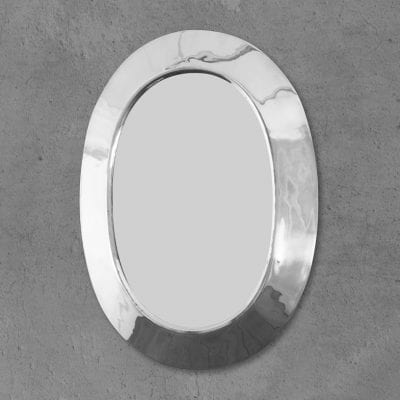 Oval Nickel Mirror 10