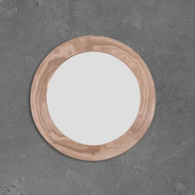 Round Mirror With Copper Frame 1