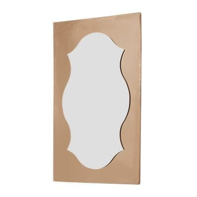 Shaped Mirror With Oblong Copper Frame 11