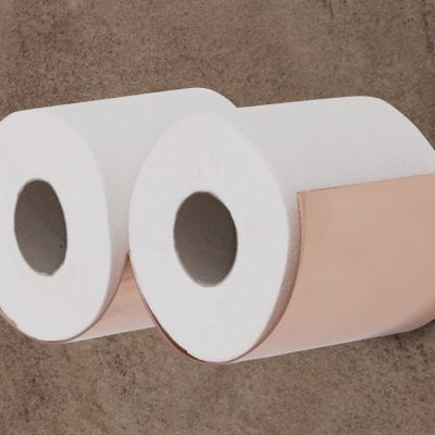 Copper Toilet Roll Holder 2