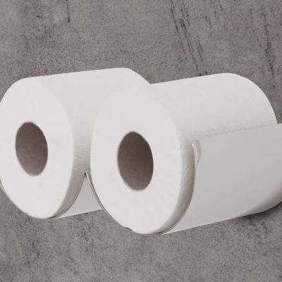 Nickel Toilet Roll Holder 4